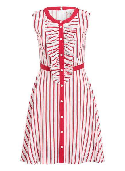 damsel in a dress Kleid PASCAL, Farbe: WEISS/ ROT GESTREIFT (Bild 1)