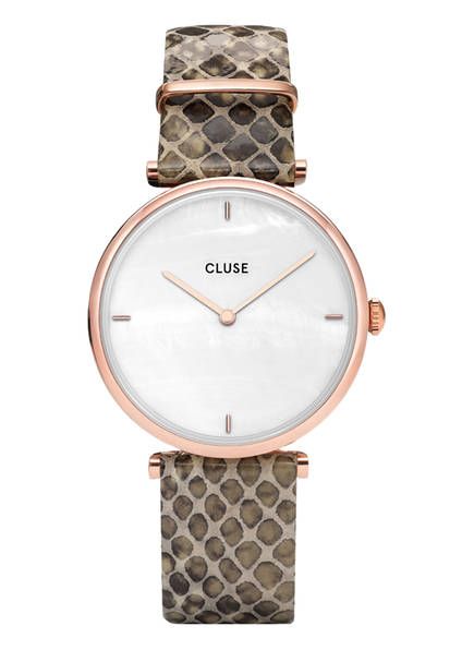 CLUSE Armbanduhr TRIOMPHE, Farbe: ROSÉGOLD/ WEISS/ TAUPE (Bild 1)