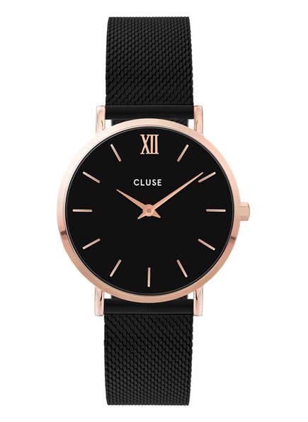CLUSE Armbanduhr MINUIT, Farbe: ROSÉGOLD/ SCHWARZ (Bild 1)