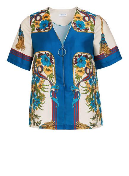 CLAUDIE PIERLOT Blusenshirt, Farbe: HELLGELB/ BLAU/ ROT (Bild 1)