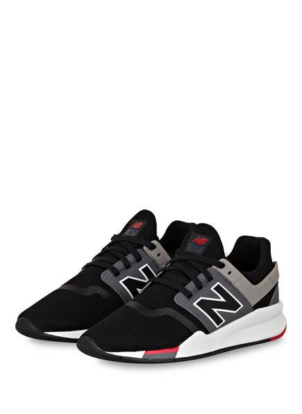 new balance Sneaker MS247, Farbe: SCHWARZ/ GRAU/ ROT (Bild 1)