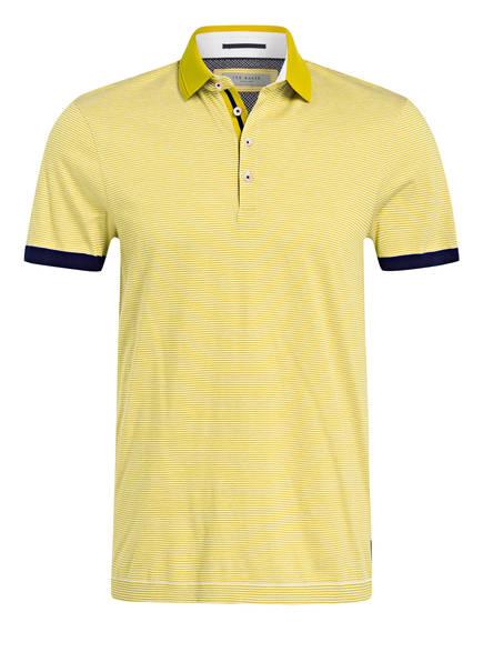 TED BAKER Poloshirt DELPOLO, Farbe: GELB/ WEISS/ GESTREIFT (Bild 1)