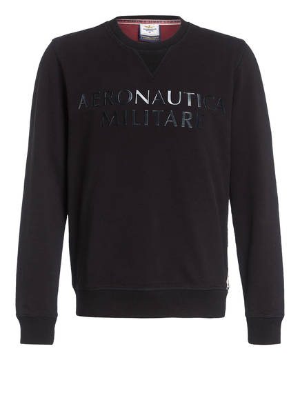 AERONAUTICA MILITARE Sweatshirt, Farbe: SCHWARZ (Bild 1)