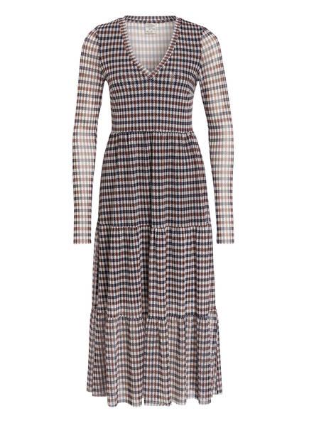 BAUM UND PFERDGARTEN Kleid JULIANNE, Farbe: DUNKELBLAU/ BRAUN/ HELLGRAU (Bild 1)