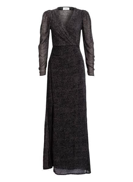 ba&sh Kleid CHARLIE mit Seide, Farbe: SCHWARZ/ WEISS (Bild 1)