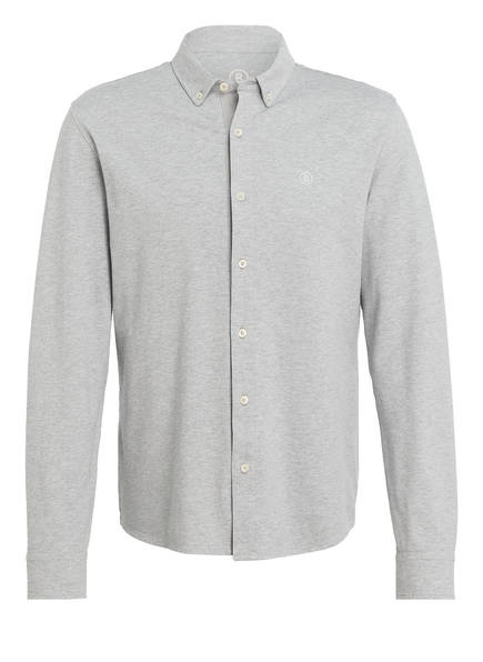 BOGNER Piqué-Hemd FRANZ Regular Fit, Farbe: HELLGRAU (Bild 1)
