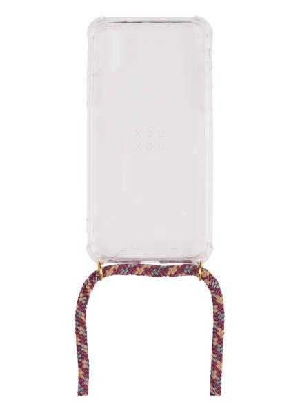 xouxou Smartphone-Hülle, Farbe: TRANSPARENT/ BORDEAUX  (Bild 1)