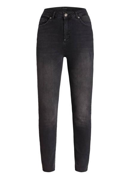 ONE MORE STORY 7/8-Jeans mit Galonstreifen , Farbe: BLACK WASHED (Bild 1)