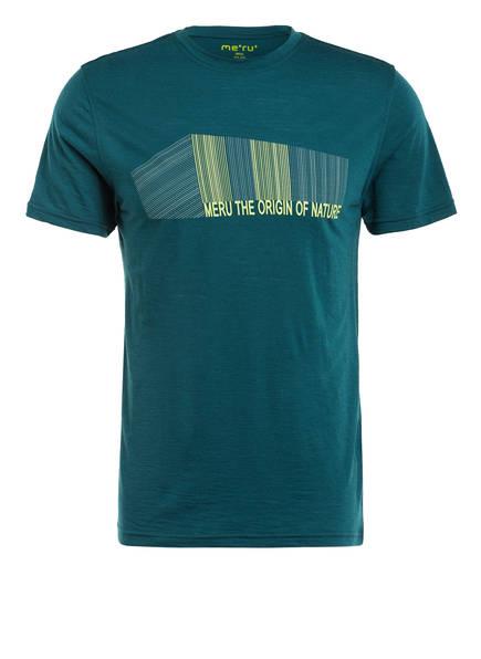 me°ru' T-Shirt TUMBA mit Merinowolle-Anteil , Farbe: PETROL (Bild 1)
