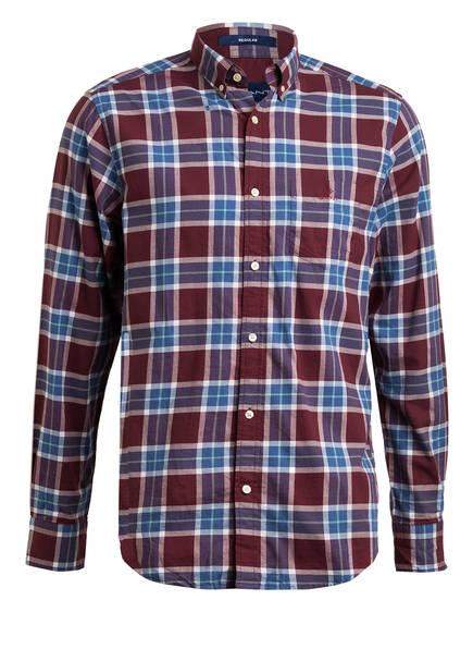 GANT Hemd Regular Fit , Farbe: DUNKELROT/ BLAU (Bild 1)