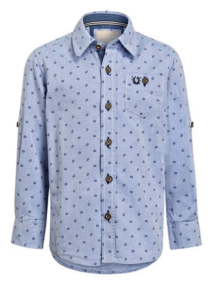 KRÜGER Trachtenhemd STEFAN , Farbe: HELLBLAU/ DUNKELBLAU  (Bild 1)