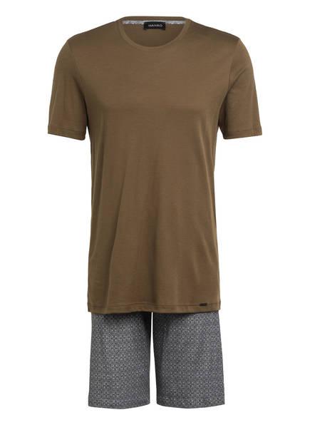 HANRO Shorty-Schlafanzug, Farbe: KHAKI/ BLAUGRAU (Bild 1)