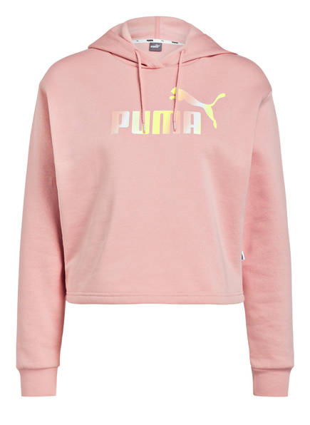PUMA Cropped-Hoddie ELEVATED ESSENTIALS, Farbe: ROSE (Bild 1)