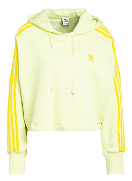 adidas Originals Cropped-Hoodie, Farbe: GELB (Bild 1)