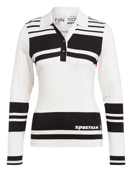 SPORTALM Jersey-Poloshirt , Farbe: WEISS/ SCHWARZ/ ROT (Bild 1)