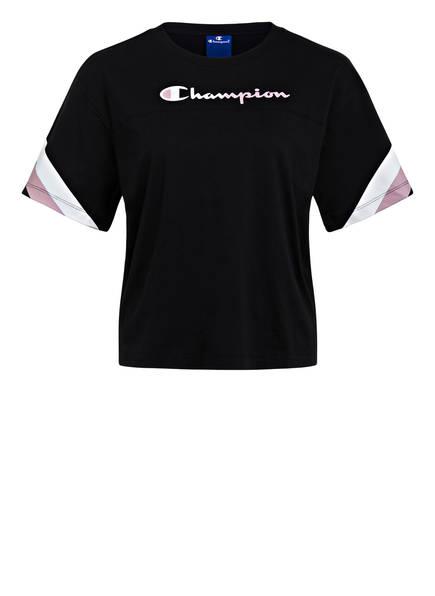Champion T-Shirt, Farbe: SCHWARZ/ ROSE (Bild 1)