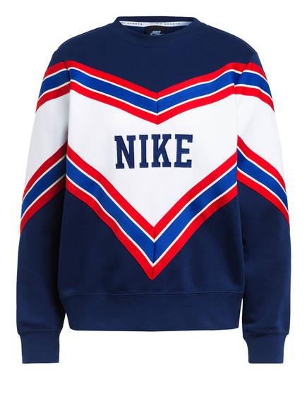 Nike Sweatshirt CREW FLEECE, Farbe: BLAU/ WEISS/ ROT (Bild 1)