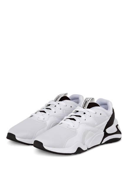 PUMA Plateau-Sneaker NOVA, Farbe: WEISS/ SCHWARZ (Bild 1)