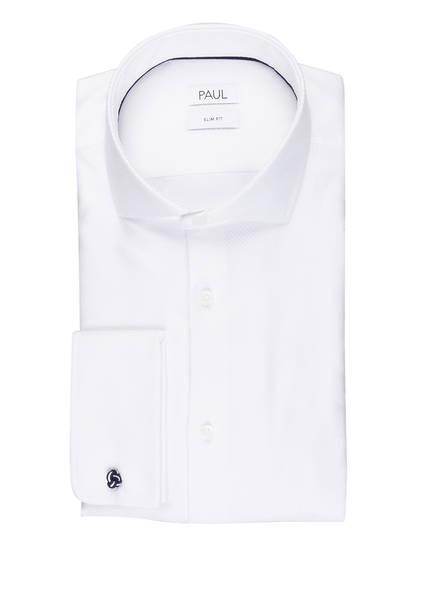 PAUL Hemd Slim Fit mit Umschlagmanschette, Farbe: WEISS (Bild 1)
