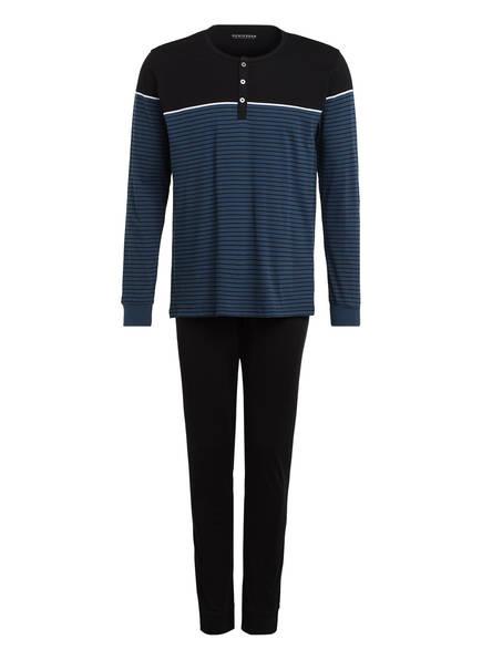 SCHIESSER Schlafanzug , Farbe: SCHWARZ/ PETROL (Bild 1)