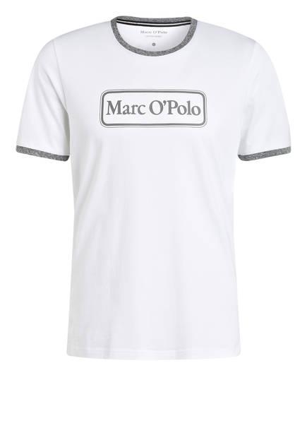 Marc O'Polo Lounge-Shirt, Farbe: WEISS/ HELLGRAU (Bild 1)