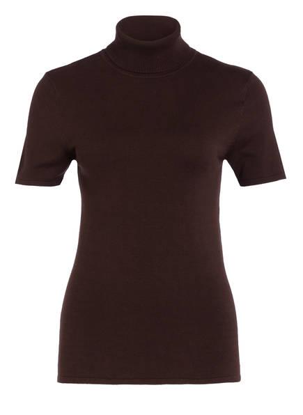 DARLING HARBOUR Kurzarm-Pullover, Farbe: DUNKELBRAUN (Bild 1)