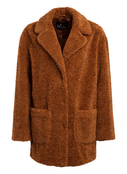 B & L Teddyfell-Mantel, Farbe: CAMEL (Bild 1)