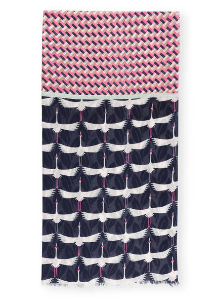 LIEBLINGSSTÜCK Schal, Farbe: DUNKELBLAU/ WEISS/ ROSA (Bild 1)