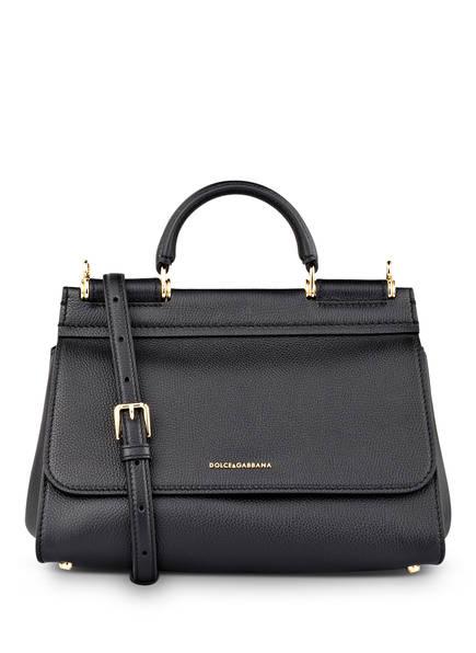DOLCE&GABBANA Handtasche SICILY SOFT SMALL, Farbe: SCHWARZ (Bild 1)