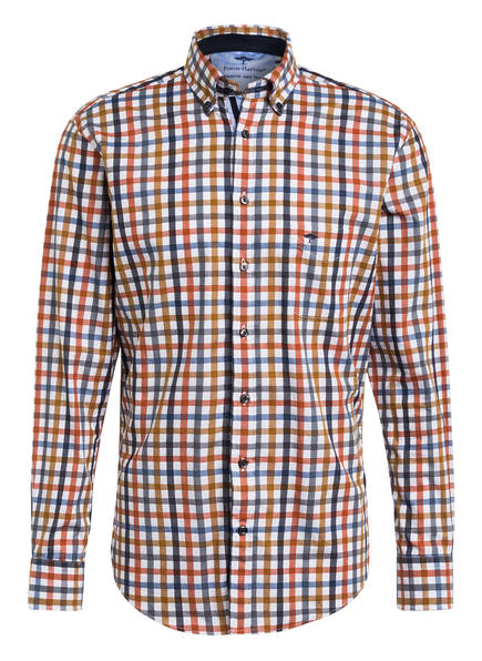 FYNCH-HATTON Hemd Casual Fit, Farbe: BLAU/ WEISS/ COGNAC (Bild 1)