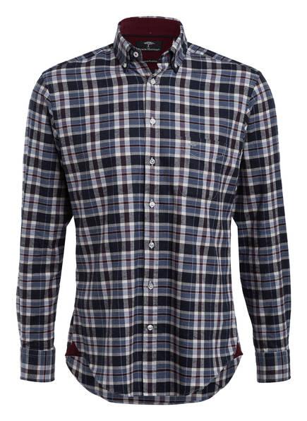 FYNCH-HATTON Flanellhemd Regular Fit, Farbe: BLAU/ CREME/ BRAUN KARIERT (Bild 1)