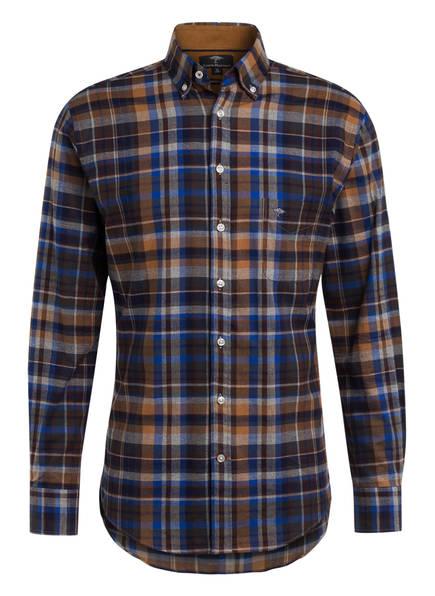 FYNCH-HATTON Flanellhemd Regular Fit, Farbe: BLAU/ CAMEL/ GRAU (Bild 1)
