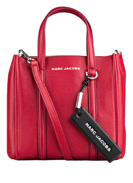 MARC JACOBS Umhängetasche THE MINI TAG TOTE, Farbe: DUNKELROT (Bild 1)