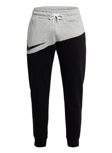 Nike Sweatpants SWOOSH, Farbe: SCHWARZ/ HELLGRAU MELIERT (Bild 1)
