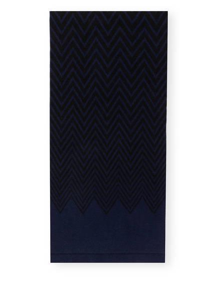 CHAS Schal mit Cashmere, Farbe: DUNKELBLAU/ SCHWARZ (Bild 1)