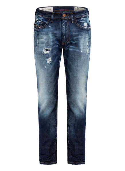 DIESEL Destroyed Jeans THOMMER Slim Skinny Fit, Farbe: BLUE USED (Bild 1)