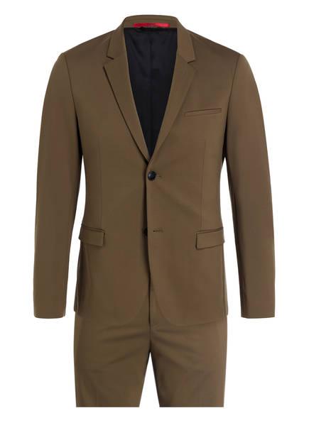 HUGO Anzug AWAY/HU-GO194J Extra Slim Fit, Farbe: OLIV (Bild 1)