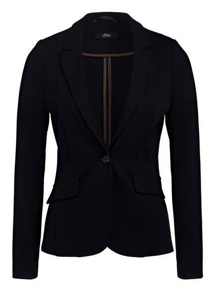 s.Oliver BLACK LABEL Jersey-Blazer , Farbe: SCHWARZ (Bild 1)