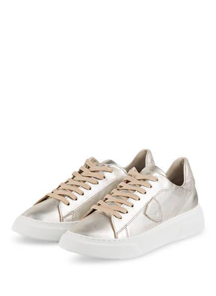 PHILIPPE MODEL Sneaker TEMPLE, Farbe: PLATIN/ BEIGE/ SILBER (Bild 1)