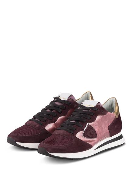 PHILIPPE MODEL Sneaker TRPX, Farbe: ROSÉ/ DUNKELROT/ GOLD (Bild 1)