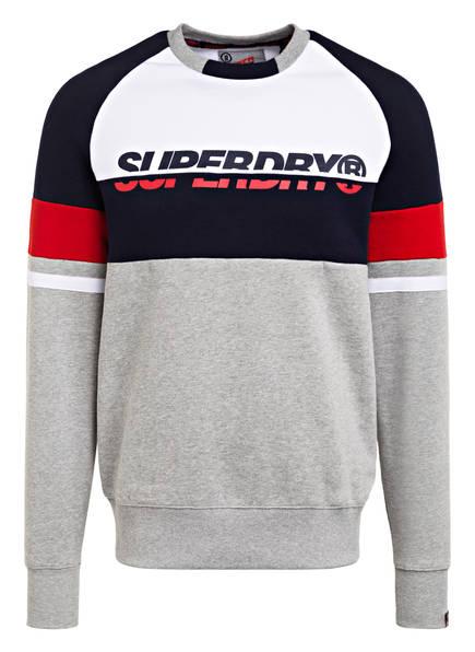 Superdry Sweatshirt , Farbe: HELLGRAU/ WEISS/ DUNKELBLAU (Bild 1)
