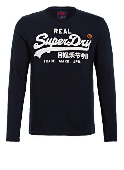 Superdry Langarmshirt, Farbe: DUNKELBLAU (Bild 1)