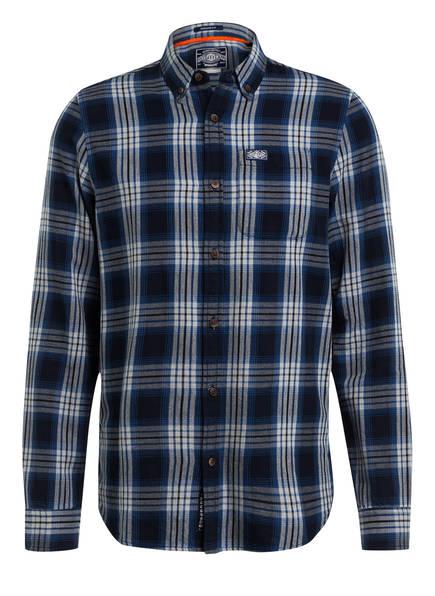 Superdry Flanellhemd Regular Fit, Farbe: DUNKELBLAU/ BLAU KARIERT (Bild 1)