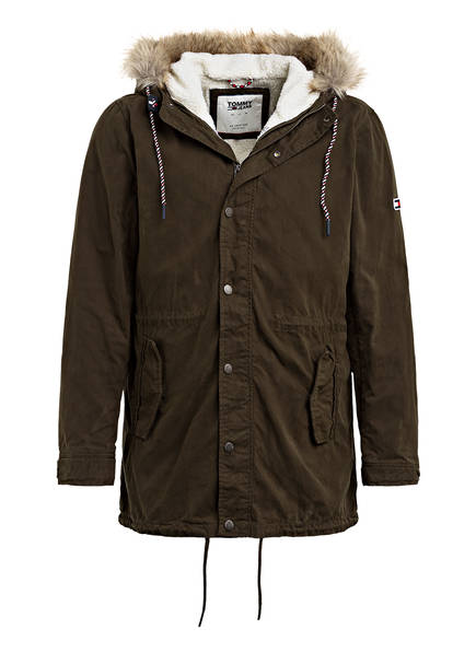 TOMMY JEANS 2-in-1-Parka, Farbe: OLIVE (Bild 1)