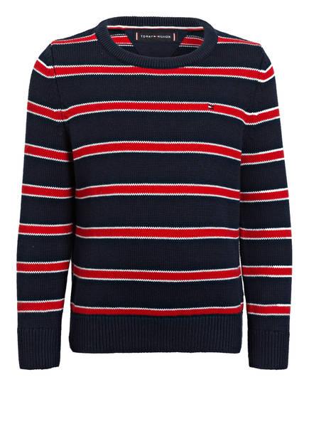 TOMMY HILFIGER Pullover, Farbe: DUNKELBLAU/ WEISS/ ROT (Bild 1)