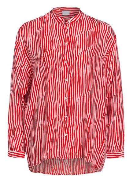 BOSS Hemdbluse CECLU aus Seide, Farbe: ROT/ WEISS (Bild 1)