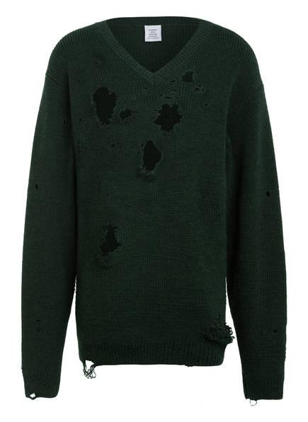 VETEMENTS Oversized-Pullover, Farbe: DUNKELGRÜN (Bild 1)