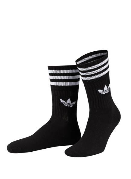 adidas Originals 3er-Pack Socken CREW , Farbe: SCHWARZ (Bild 1)