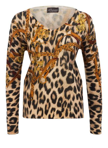 Princess GOES HOLLYWOOD Pullover, Farbe: CAMEL/ SCHWARZ/ GELB (Bild 1)