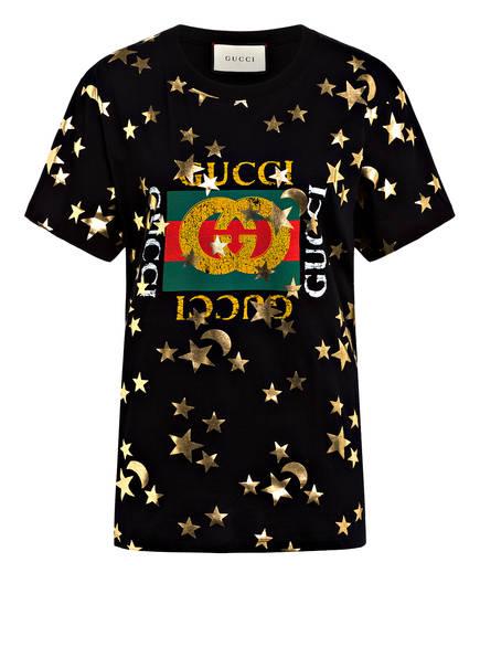 GUCCI T-Shirt, Farbe: SCHWARZ/ GOLD (Bild 1)